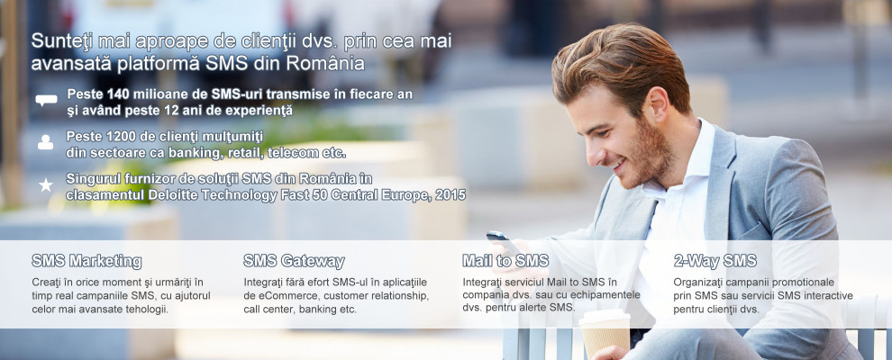 SMS Marketing, Campanii SMS, SMS Gateway, Mail to SMS